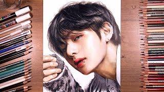 Download Song Drawing BTS: V (Taehyung) 뷔 | drawholic Free StafaMp3