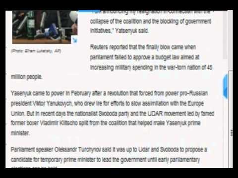 Ukrainian Prime Minister Resigned