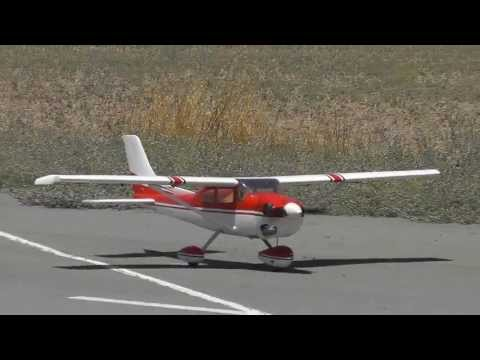 Scale Phoenix RC Cessna 182 RC Model Flight - Takeoff. Lowpasses and Landing - By Costas Theodorou
