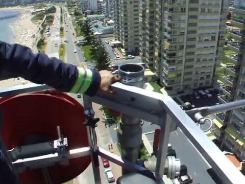 Autobomba Nº293 Direccion Nacional de Bomberos Uruguay (65mts de Escalera Hidraulica)