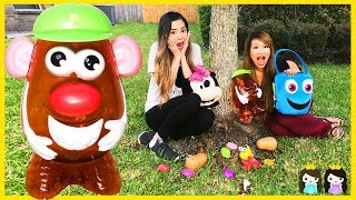 Learn with Mr Potato Head Toy Hunt Outdoor & Body Part Names for Kids with Princess ToysReview