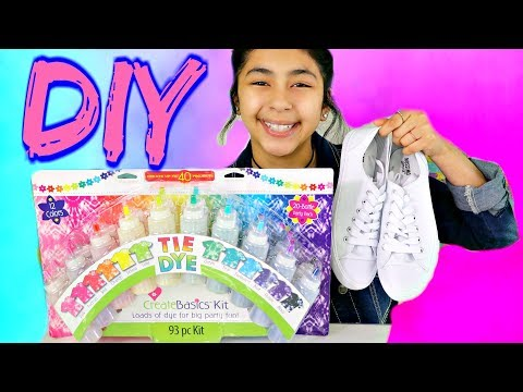 TIE DYE Shirts, Shoes & Skirt DIY!!! B2cutecupcakes