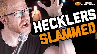 Comedian Slams Two Hecklers!