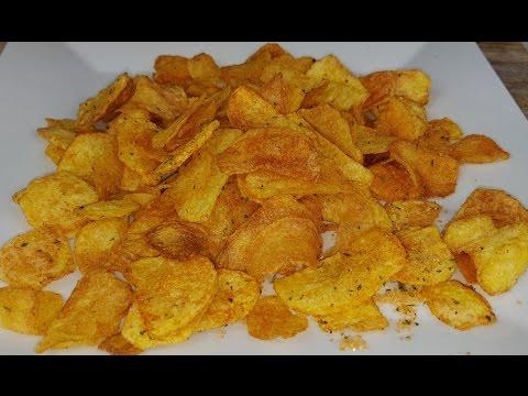Картофельные чипсы.  ЛЕГКО - БЫСТРО - ВКУСНО !!!
