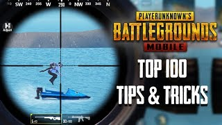 Top 100 Tips & Tricks in PUBG Mobile Compilation | Ultimate Guide To Become A Pro