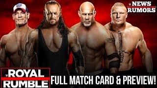 WWE Royal Rumble: FULL MATCH CARD & PREVIEW [WWE News/Rumors]