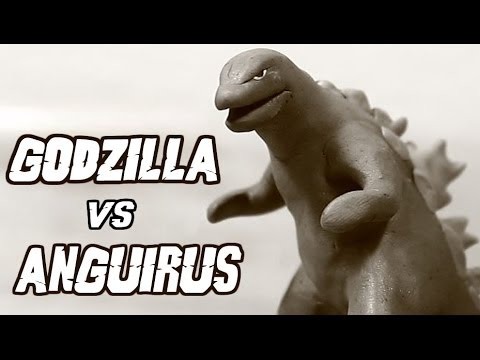 Godzilla Vs Anguirus | Kaiju Claymation Fight video