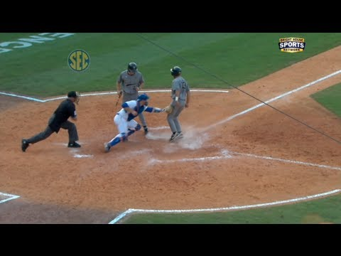 Vanderbilt pulls off a rare triple steal and goes on to beat Florida in the 2012 SEC Baseball Tournament.