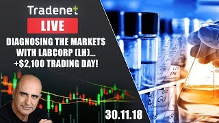 Tradenet Trading Room - Diagnosing The Markets With LabCorp (LH)...  +$2,100 Trading Day!