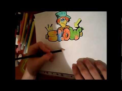 Видео уроки как рисовать граффити