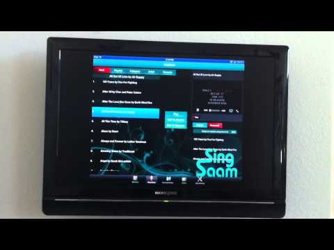 Brief tutorial and intro of SingSaam karaoke app for iPad