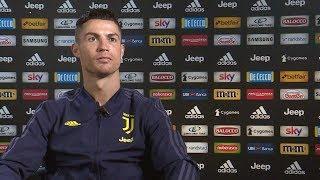 Cristiano Ronaldo speaks to Juventus TV before Atletico Madrid return leg