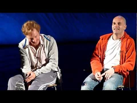 How the play has evolved - Q&A session for Frankenstein Jonny Lee mIller Benedict Cumerbatch