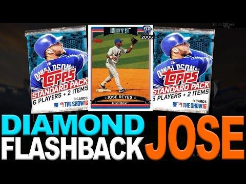 ROOKIE FLASHBACK PULL!! DIAMOND FLASHBACK JOSE REYES | MLB THE SHOW 16 DIAMOND DYNASTY PACK OPENING