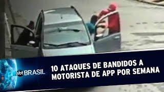 Por semana, dez ataques a motoristas de uber são registrados em SP | SBT Brasil (21/05/19)