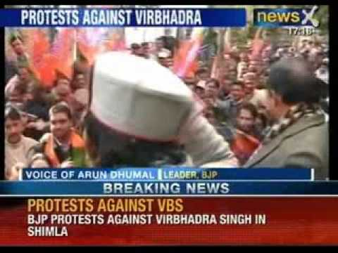 Virbhadra Singh in trouble : BJP Protests against Chief Minister Virbhadra Singh in Shimla - NewsX
