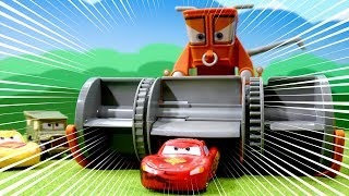 Disney Cars Color Changers Playset toys Chase & Change Franck & Lightning Mcqueen for cartoon movie
