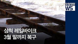 R]운행 중단 삼척 레일바이크 3월 말까지 복구