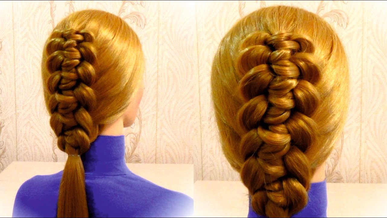 Быстрые причёски на каждый день для средних волос ютуб