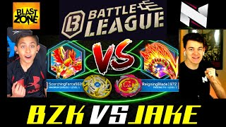 Beyblade Burst Turbo Battle League!  BZK vs Ilinnuc!