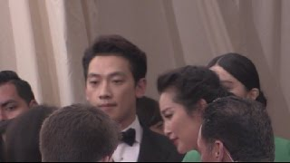 Fan BingBing,Rain and Kris Wu at Met Gala 2015
