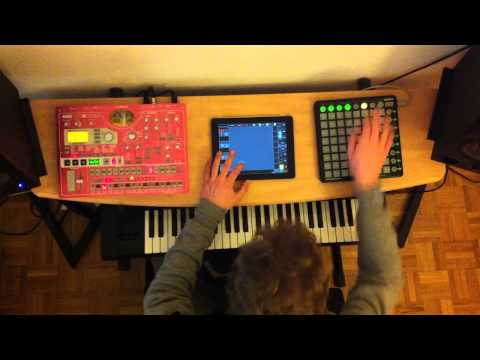 Deadmau5 - Strobe (Ableton and E-SX live set with iPad, Launchpad and SH-201) Music Videos