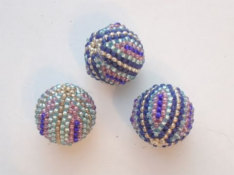 Beaded bead tutorial: How to cover a wooden bead with Peyote Stitch 1/2 | Beading Tutorial