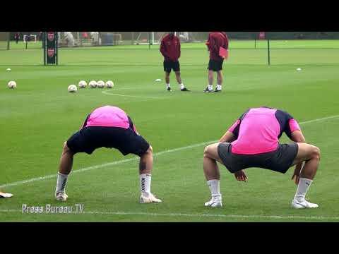 Arsenal Training pre Arsenal vs Vorskla Poltava