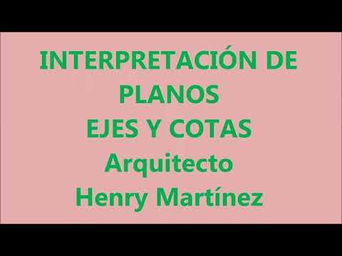 INTERPRETACIÓN DE PLANOS  -  EJES Y COTAS
