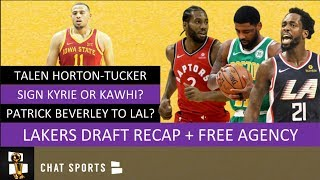 Lakers Rumors: Draft Recap + 2019 Free Agency News Today On Kyrie Irving & Kawhi Leonard