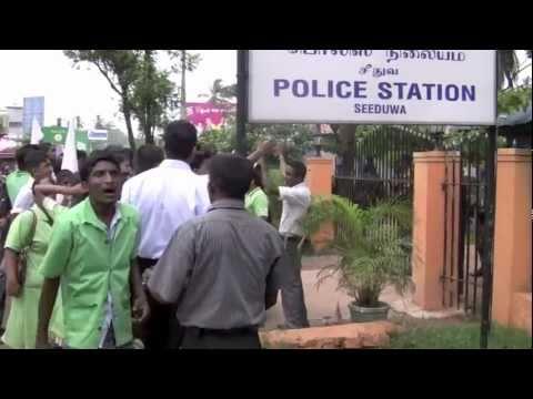 Protest Against Sri Lanka Police(Full Vedio)