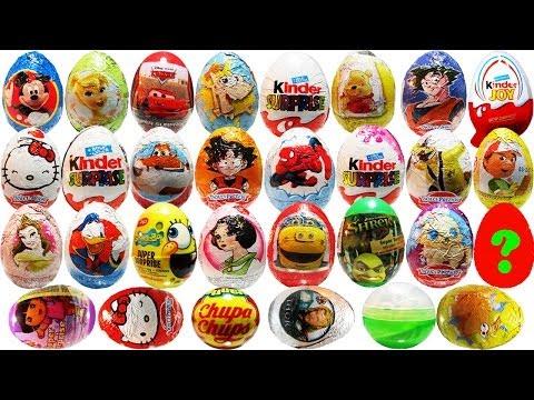 Hi guys, today 30 surprise eggs unboxing