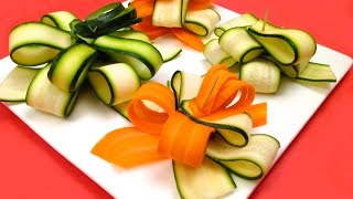 How to Make a Gift Bow with a Zucchini and a Carrot / Food Art, Life Hack