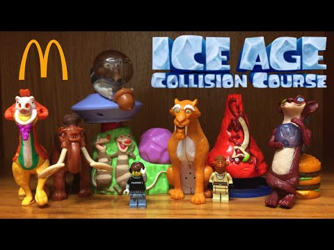McDonald's ICE AGE Collision Course Happy Meal Toys Review International Collection 2016