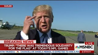 President Trump Flips Bird To Patriots Owner Jew Robert Kraft
