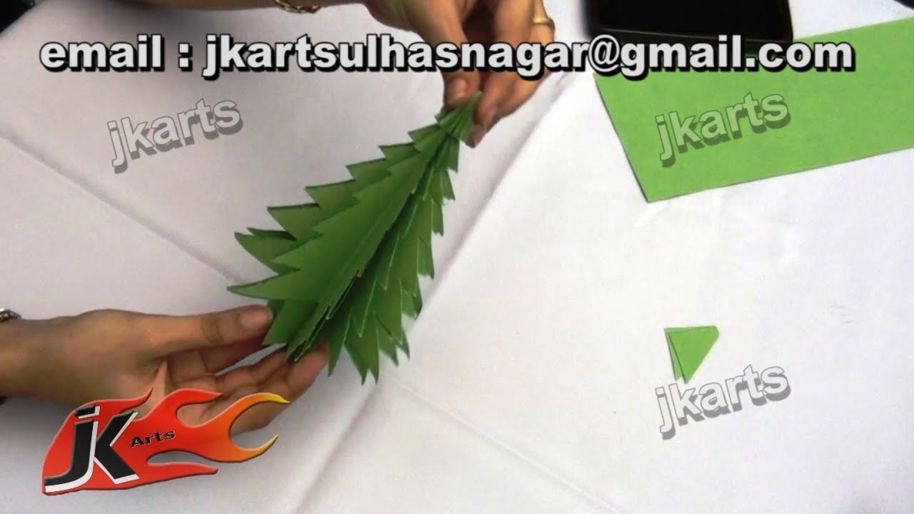 How To Make Christmas Tree Ornaments Out Of Construction Paper : Diy how to make christmas tree paper craft for kids jk