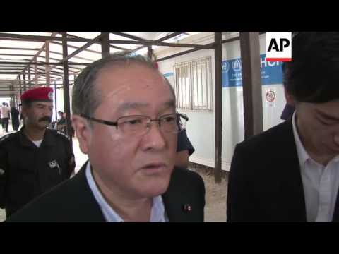 Japanese Senior Parliamentary Vice Minister of Foreign Affairs visits refugee camp
