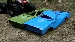 RC Monster truck crusher car test