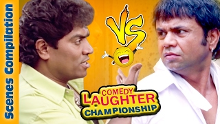 Johnny Lever Comedy Scenes  VS  Rajpal Yadav Comedy Scenes {HD} - 1 - Comedy Laughter Championship
