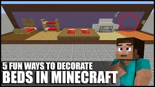5 Fun Ways To Decorate Beds In Minecraft!