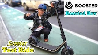 Boosted Rev E-scooter Test Ride in NY- by Martune