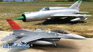 Freewing F-16 & Freewing MiG-21 EDF Jets Formation Flying