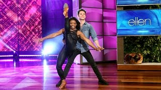 'DWTS' Duo Simone Biles and Sasha Farber Perform
