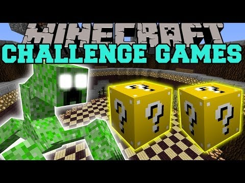 Minecraft: MUTANT CREEPER CHALLENGE GAMES LUCKY BLOCK MOD Modded Mini Game
