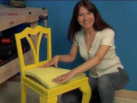 Recupero creativo di una sedia bricoportale youtube - Tappezzare una sedia ...