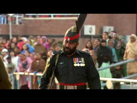 India Pakistan Wagah Attari Border Closing Ceremony (by Sanjeev Bhaskar - The Longest Road). video