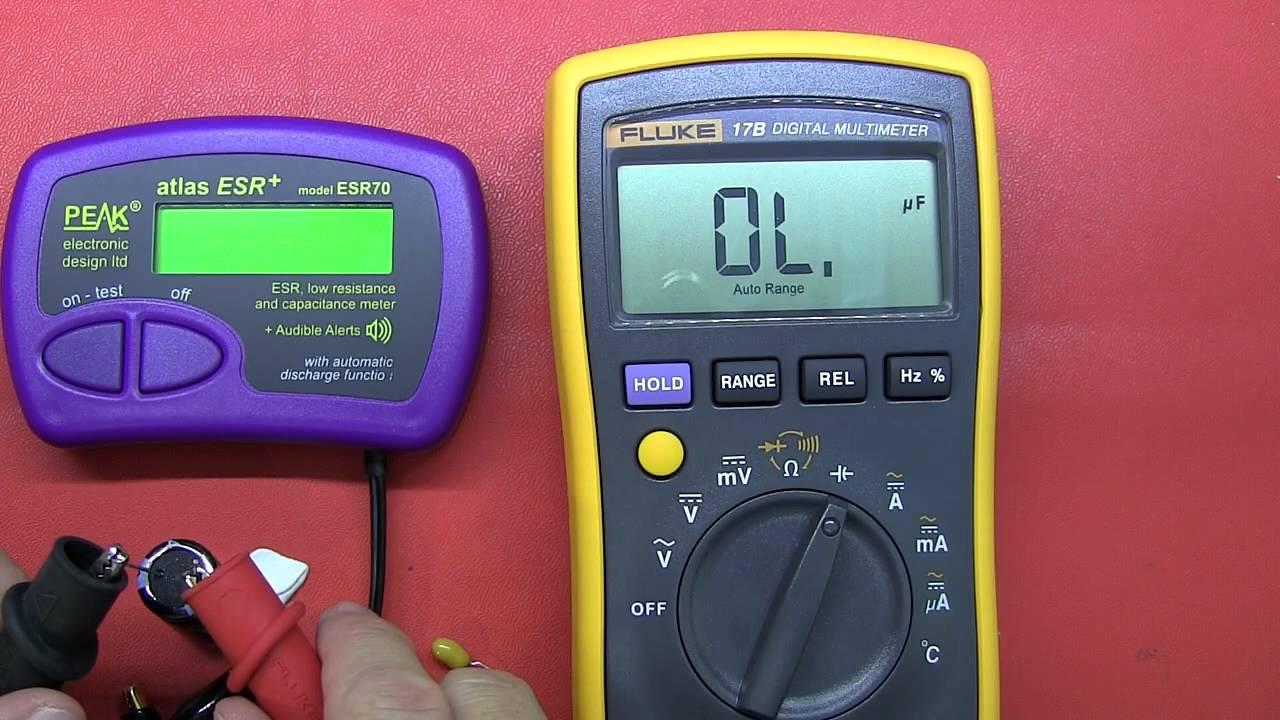Fluke Esr Meter : Review peak atlas esr capacitance and meter youtube
