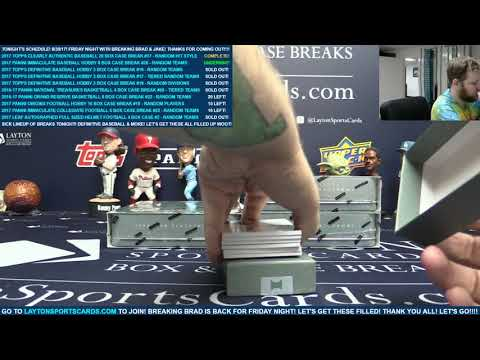 2017 Panini Immaculate Baseball Hobby 8 Box Case Break #26 – RANDOM TEAMS