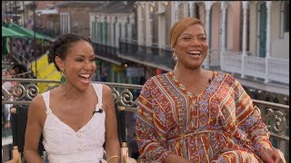 Uncensored GIRLS TRIP interviews - Queen Latifah, Jada Pinkett Smith, Tiffany Haddish, Regina Hall
