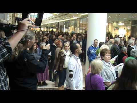 Derby Flash Mob 7/4/2012 Hallelujah Chorus Westfield Food Court